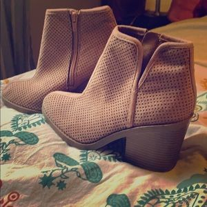 SODA Blush Colored Ankle Booties